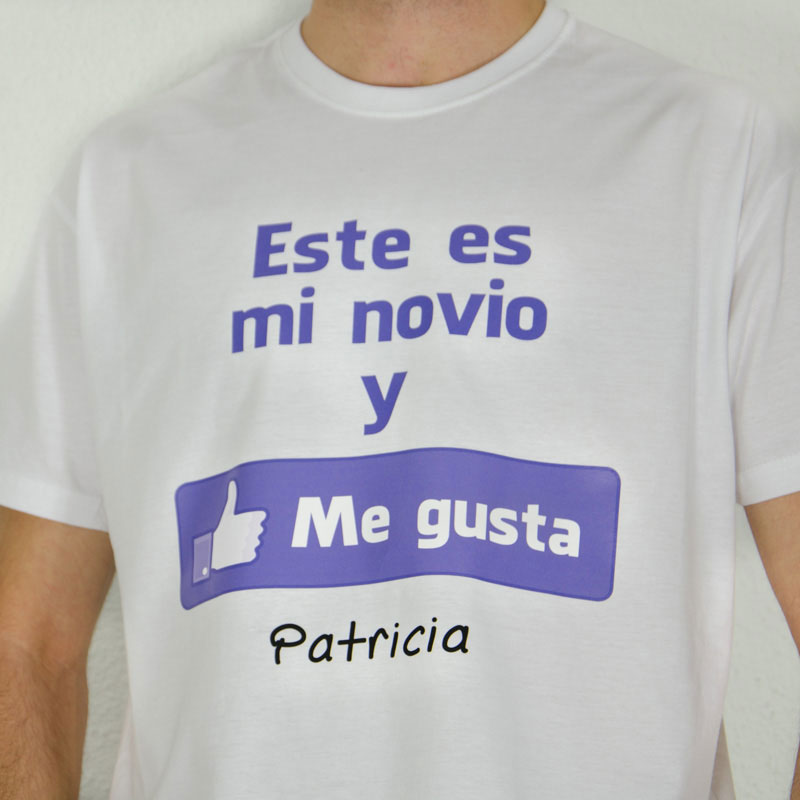 4b43e85e98bd5 Camiseta me gusta mi novio personalizada