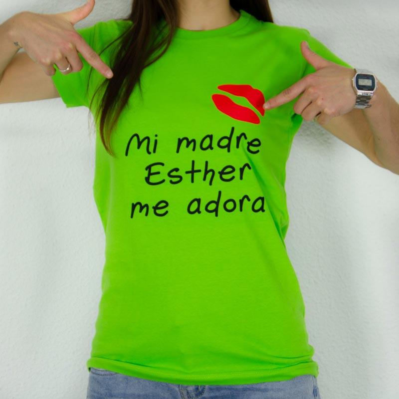 Camiseta mi madre me adora personalizada 185cb1460fe96