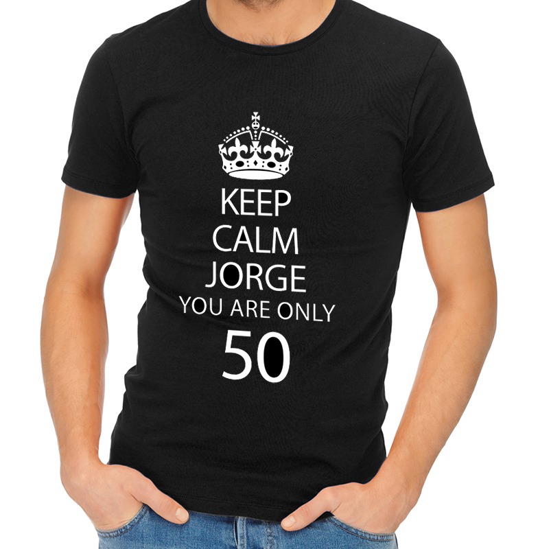 Regalos personalizados: Regalos con nombre: Camiseta personalizada 'Keep Calm you are only'