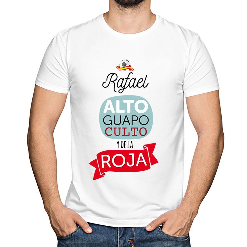 ed9c4914c Regalos personalizados Regalos con nombre  Camiseta personalizada Y de la  roja