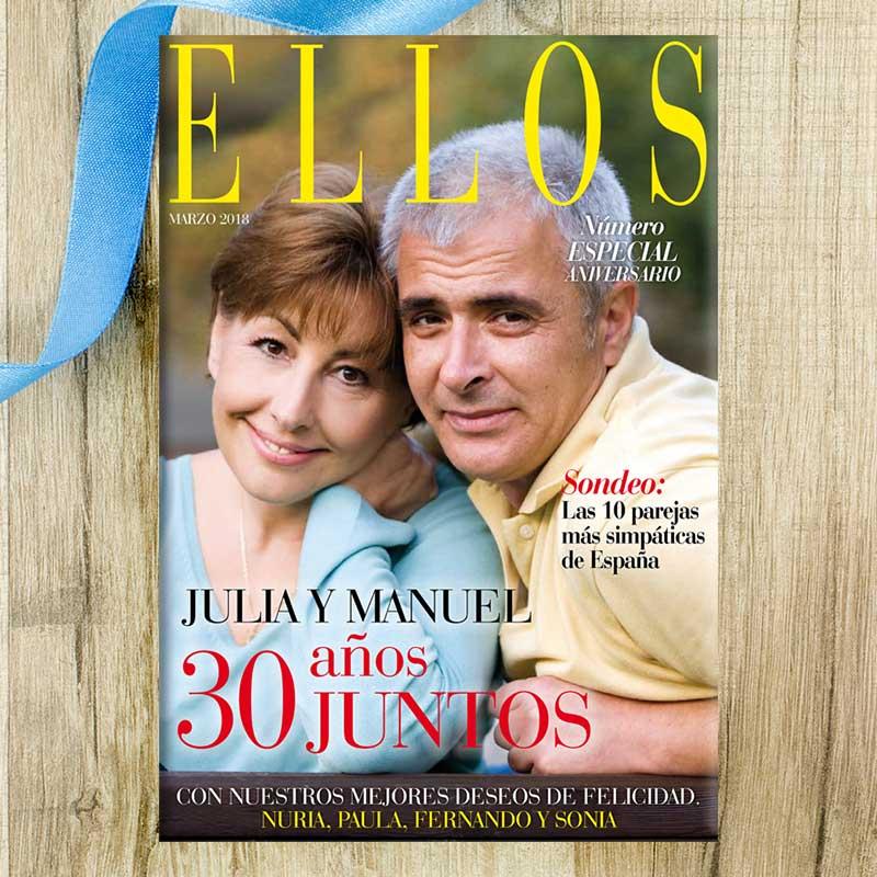 Falsa portada de revista especial aniversario for Regalo especial aniversario