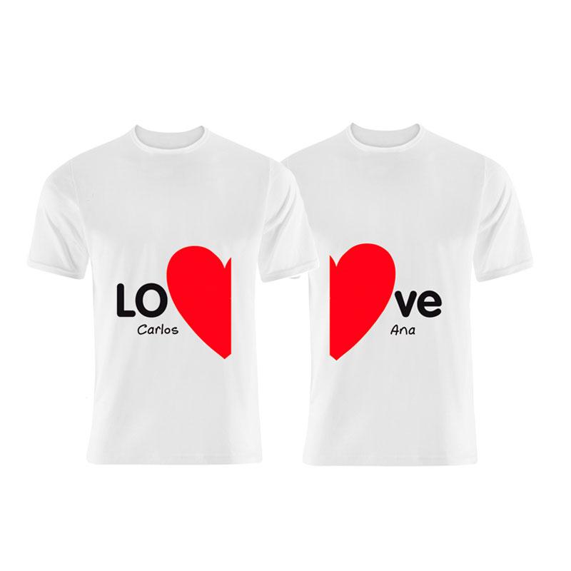 precio oficial claro y distintivo comprar baratas Pack camisetas LOVE personalizadas