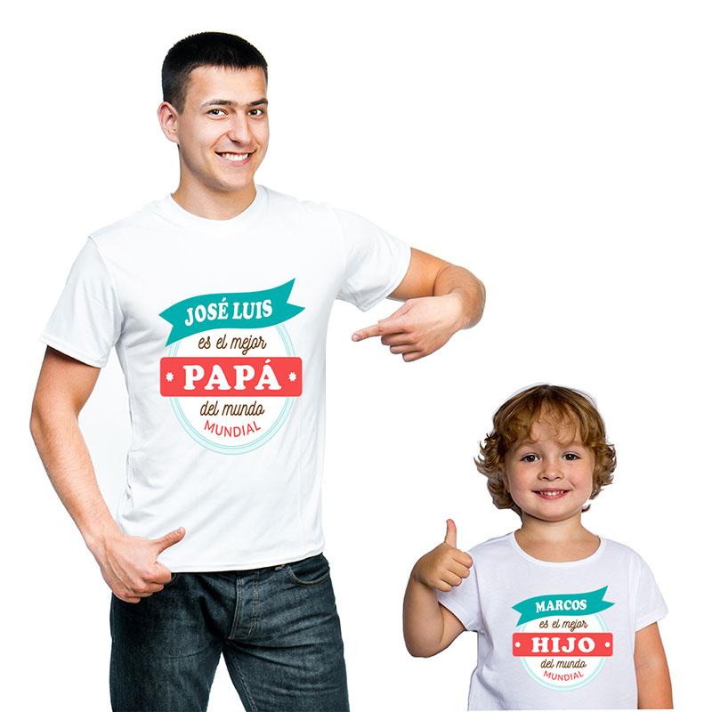 5b1e40328fc Regalos personalizados Regalos con nombre: Pack personalizado mejor padre y  mejor hijo