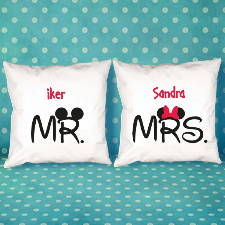 Diseño y decoración: Pack de cojines Mr y Mrs personalizados